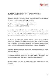 CURSO-TALLER: PRODUCTOS ESTRUCTURADOS - Gref