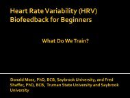 HRV - What Do We Train?