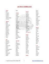 Active-Verbs-List