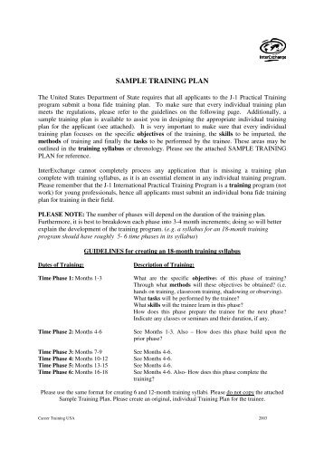 One Week Sample Training Plan - Racesonline.Com
