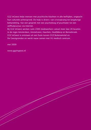 GGZ inGeest helpt mensen met psychische klachten in alle ...