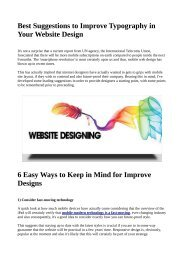 Best suggestions to improve typography in your website design.pdf