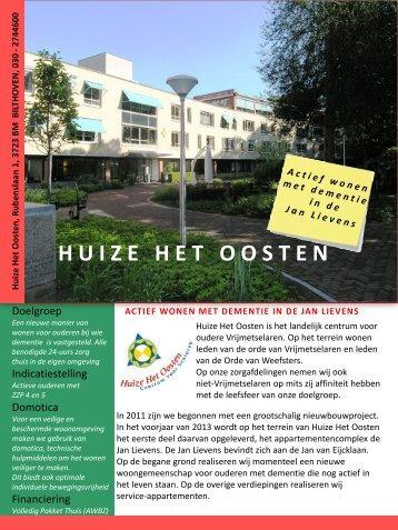 Brochure actief wonen met dementie 26 juli 2012 - Huize Het Oosten
