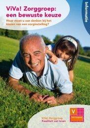 Brochure ViVa! Zorggroep: een bewuste keuze