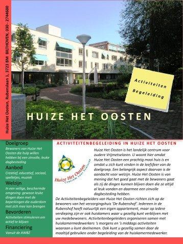 Brochure Activiteitenbegeleiding september 2012 - Huize Het Oosten