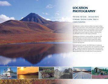 LOCATION PHOTOGRAPHY - Yukon Film & Sound Commission