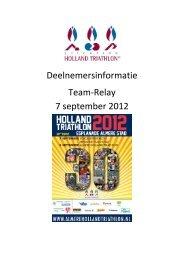 Deelnemersinformatie Team-Relay 7 september 2012