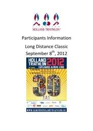 Participants Information Long Distance Classic September 8 , 2012