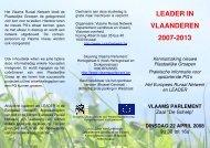 LEADER IN VLAANDEREN 2007-2013 - Vlaams Ruraal Netwerk