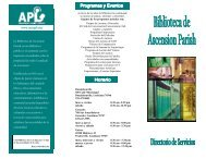 Spanish Library Services Directory 2007 2.pub - Ascension Parish ...