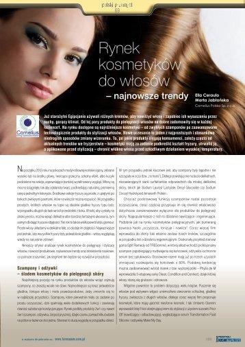 Rynek kosmetyków do włosów - Cornelius Polska Sp. z oo