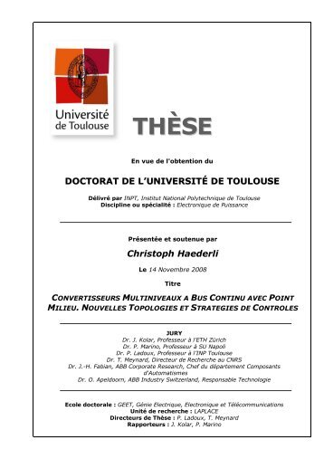Christoph Haederli - Les thèses en ligne de l'INP - Institut National ...
