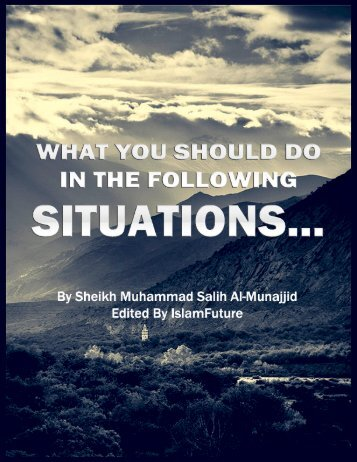 en what you should do in the following situations