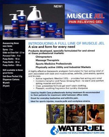 (MUSCLE JEL - Water-Jel Technologies