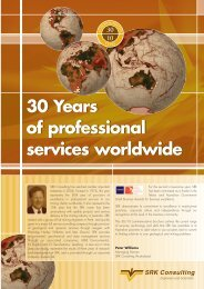 30 Years of professional services worldwide 30 ... - SRK Consulting