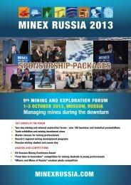 MINEX Russia 2013. Mining and Exploration Forum