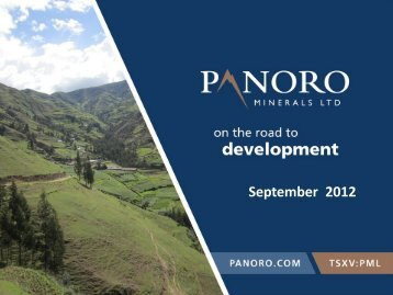 September 2012 - Panoro Minerals Ltd.