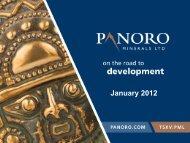 Antilla Project - Panoro Minerals Ltd.