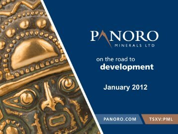Antilla Project - Panoro Minerals Ltd.