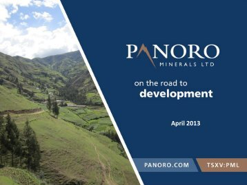 April 2013 Click to View (PDF, 2.83Mb) - Panoro Minerals Ltd.