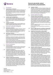 Toimitusehdot yrityksille - Sonera