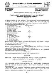 liceo delle scienze umane statale - Liceo Statale C. Montanari