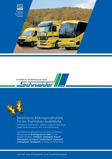 Zertifizierte Bildungsmaßnahme für die Kraftfahrer-Ausbildung