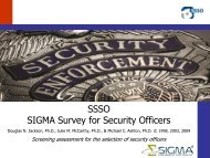 SSSO SIGMA Survey for Security Officers - Sigma Assessment ...