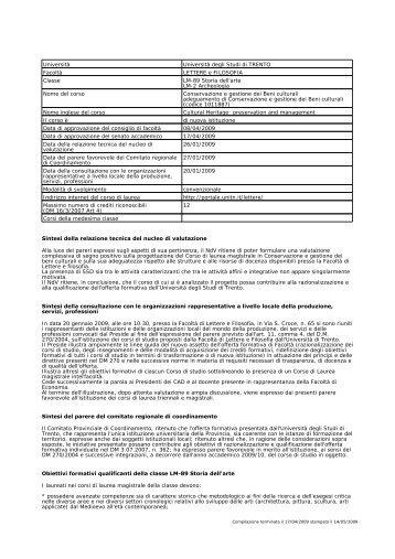 ordinamento - PEOPLE - Università degli Studi di Trento