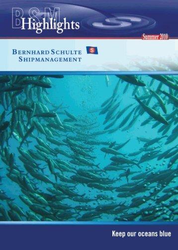 Keep our oceans blue - Bernhard Schulte Shipmanagement