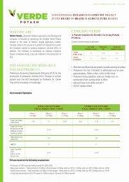 WHO WE ARE POTASSIUM CHLORIDE (KCl ... - Verde Potash