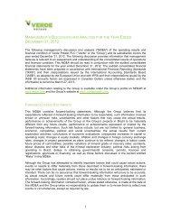 MD&A - Verde Potash Plc