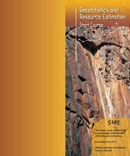 Geostatistics and Resource Estimation short course - SRK Consulting