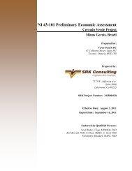 NI 43-101 Preliminary Economic Assessment - Verde Potash