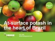 Verde fertilizantes - Verde Potash Plc