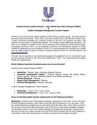 Unilever Shanghai Management Trainee Program - Universum ...
