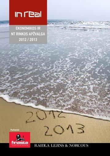 EKONOMIKOS IR NT RINKOS APŽVALGA 2012 / 2013 - InReal