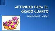 ACTIVIDAD PARA EL GRADO CUARTO