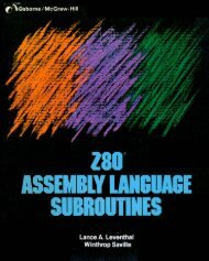 Z80 Assembly Language Subroutines (1983)(Osborne ... - Grimware