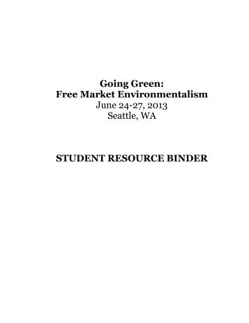 Going Green Student Resource Binder - Foundation for Economic ...