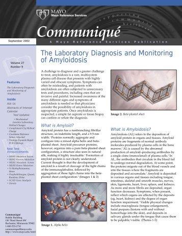 Communiqué - Mayo Medical Laboratories