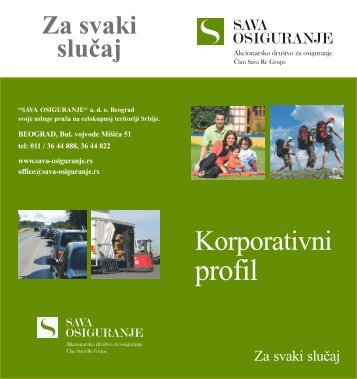 Korporativni profil duofold - Sava Osiguranje