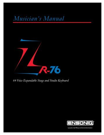 Musician's Manual - MIDI Manuals