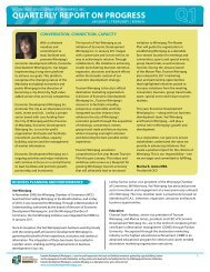 Quarterly rePOrt ON PrOGreSS - Economic Development Winnipeg