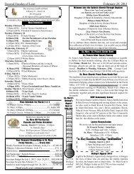 Second Sunday of Lent February 24, 2013 - St. Mary Catholic ...