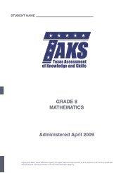 GRADE 8 MATHEMATICS Administered April 2009 - PatHubert