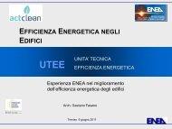 Strumenti di lavoro di una ESCO Audit energetica, Analisi ... - Enea