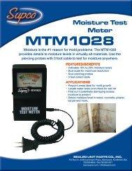 Moisture Test Meter MTM1028 - Supco