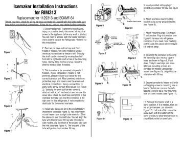 installation instructions defrost timer kit spafl supco icemaker installation instructions for rim313 supco