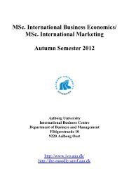 Semester Plan - International  Business Centre